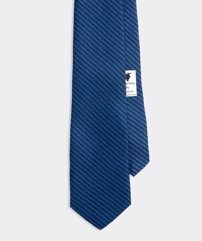 Tonal Hatched Stripe Printed Tie