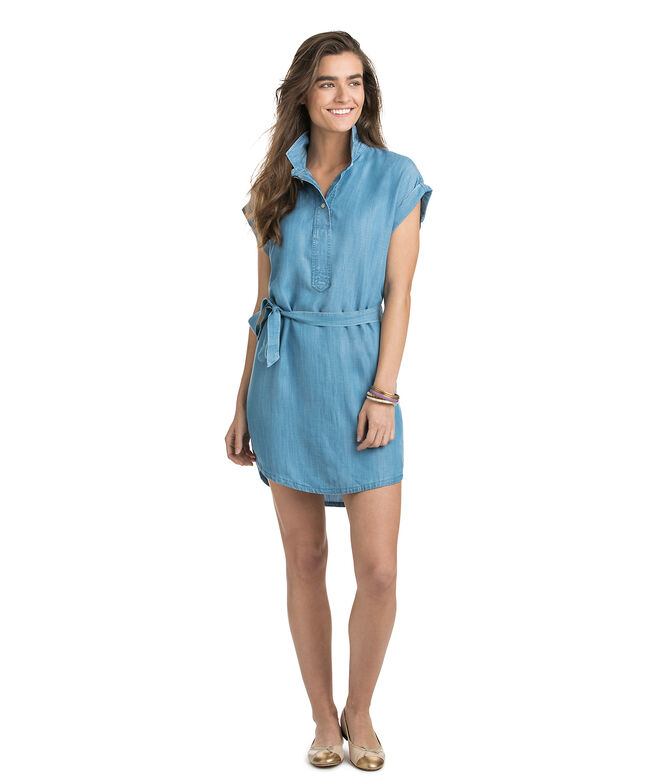 2279680bc6 Dolman Chambray Popover Dress