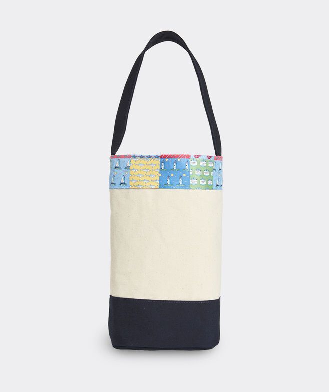 Patchwork Double Wine Tote Bag