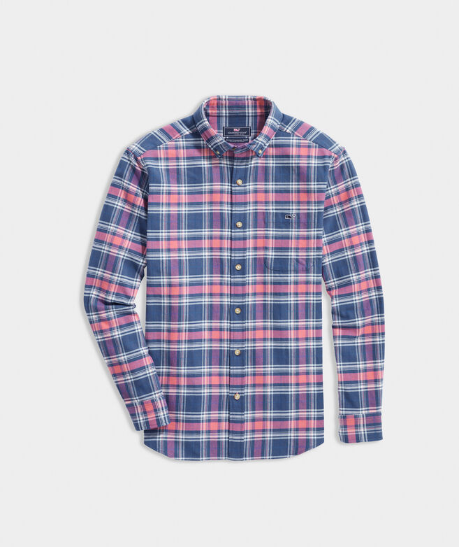 Classic Fit Plaid Shirt in Stretch Flannel
