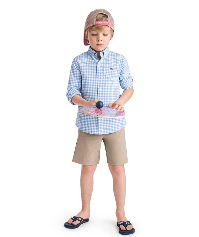 Kids' Classic Gingham Whale Shirt