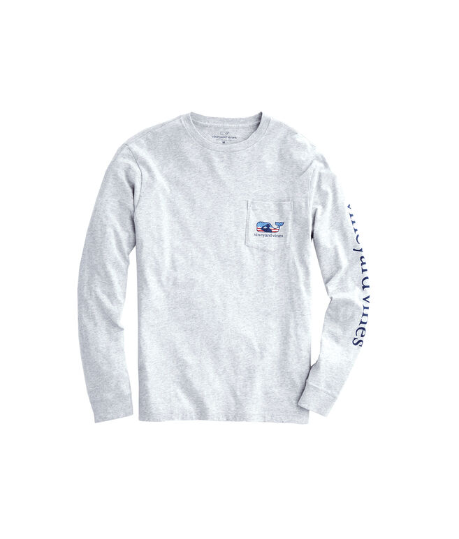 Adult Long-Sleeve Veterans Pocket T-Shirt