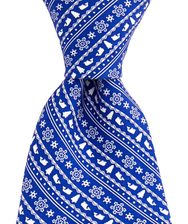 Fair Isle Stripe Printed Tie