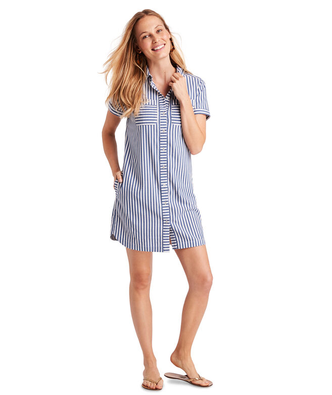 Margo Shore Seersucker Shirt Dress