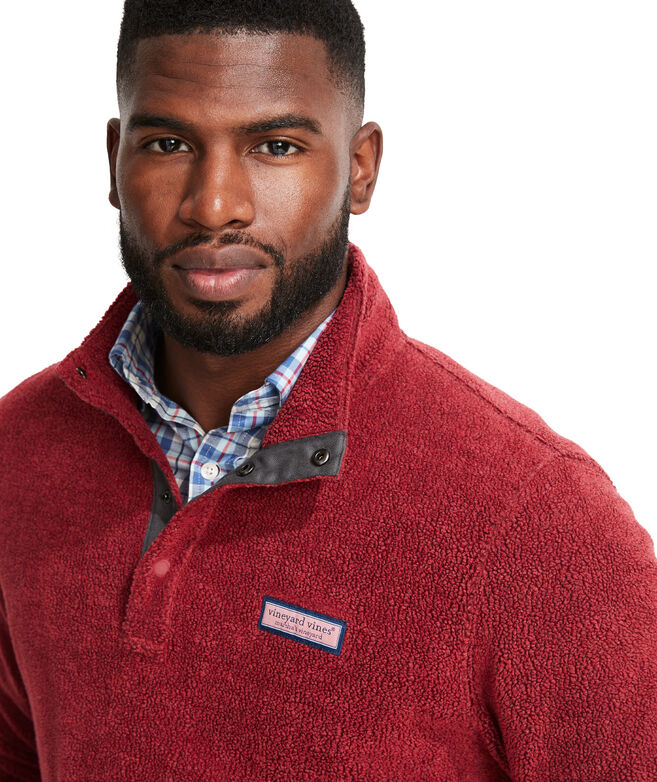 Vineyard Snap Placket Sherpa Pullover