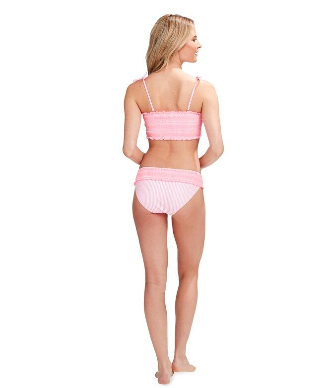 Smocked Bandeau Bikini Top