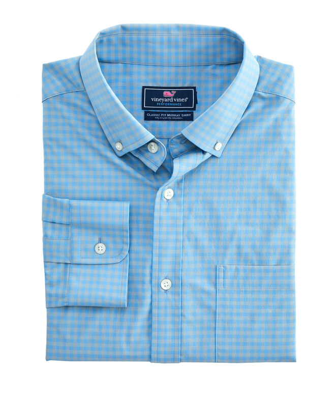 Classic Color-To-Color Gingham Performance Murray Shirt
