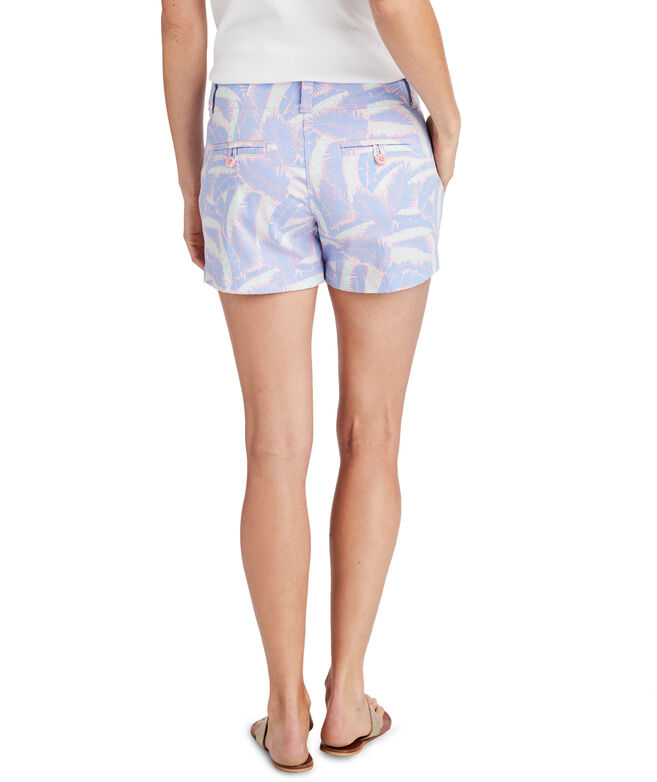 OUTLET Women's 3 1/2 Inch Island Palm Print Every Day Shorts