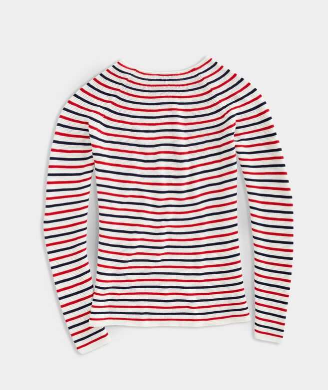 Striped Cotton Beach Sweater