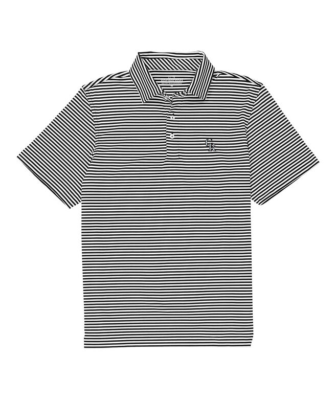 Colorado Rockies Winstead Stripe Sankaty Performance Polo