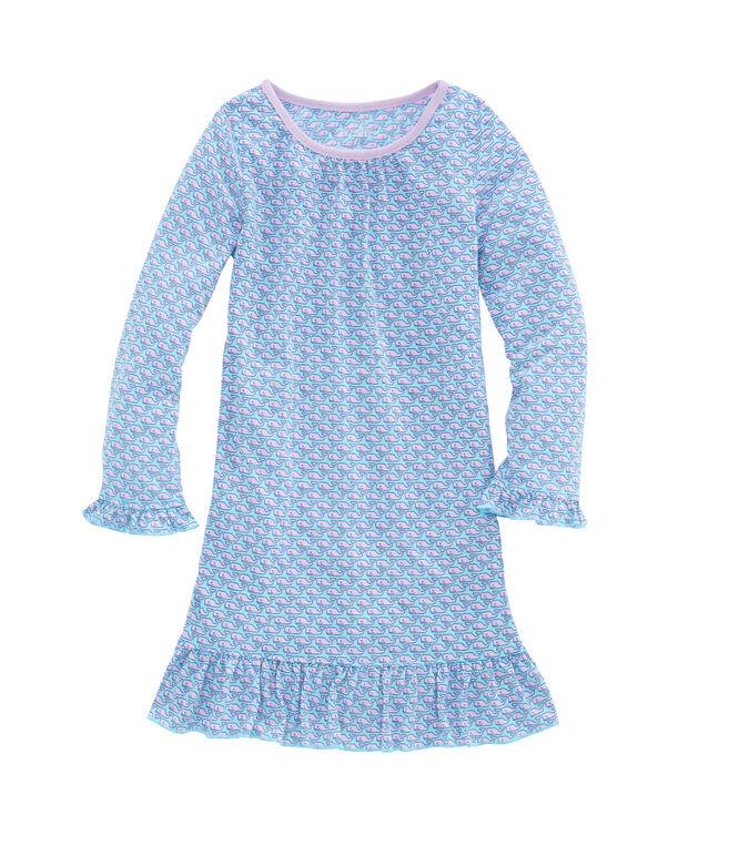 Girls Vineyard Whale Nightgown