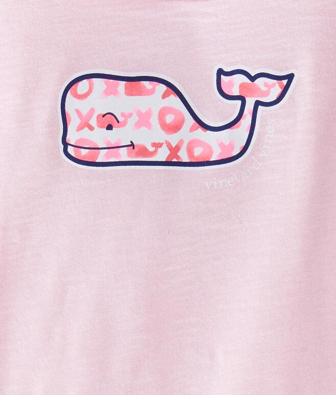 Girls Long-Sleeve Slub XO Whales Swing Tee