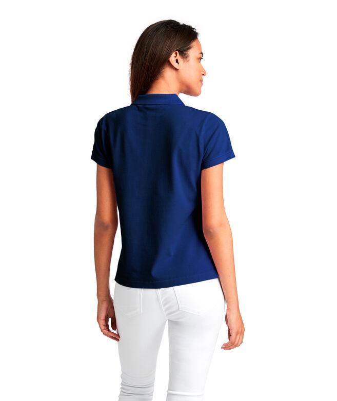 OUTLET Women's Coastal Pique Short-Sleeve Polo