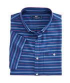 Short-Sleeve Shoal Stripe Slim Longshore Shirt