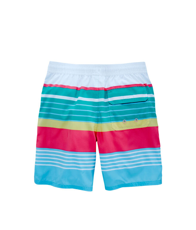 Boys Boca Bay Stripe Chappy Trunks