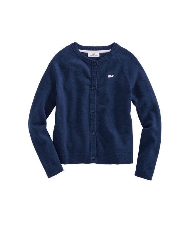 Girls Raglan Sleeve Cotton Cardigan
