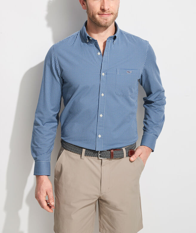 Slim Fit Lemon Shark Cotton Performance Tucker Button-Down Shirt