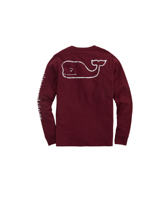 Boys Vintage Whale Long-Sleeve Pocket T-Shirt