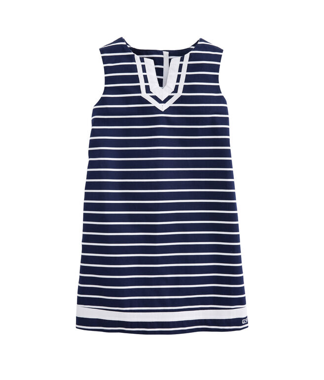 Girls Break Stripe Vineyard Shift Tunic Dress