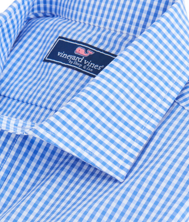 Bluff Gingham Performance Cooper Shirt