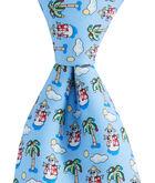 Boys Tropical Snowman Tie