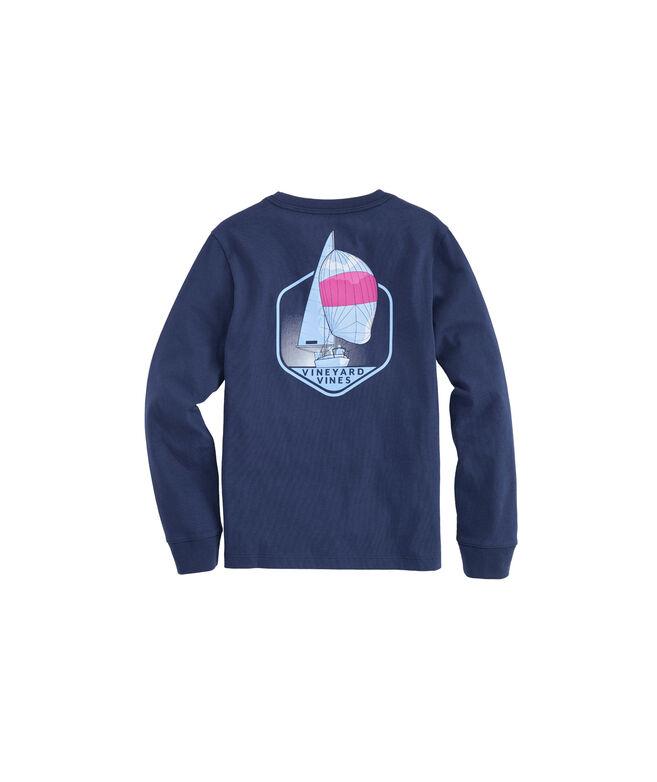 Boys Long-Sleeve Downwind Pocket T-Shirt