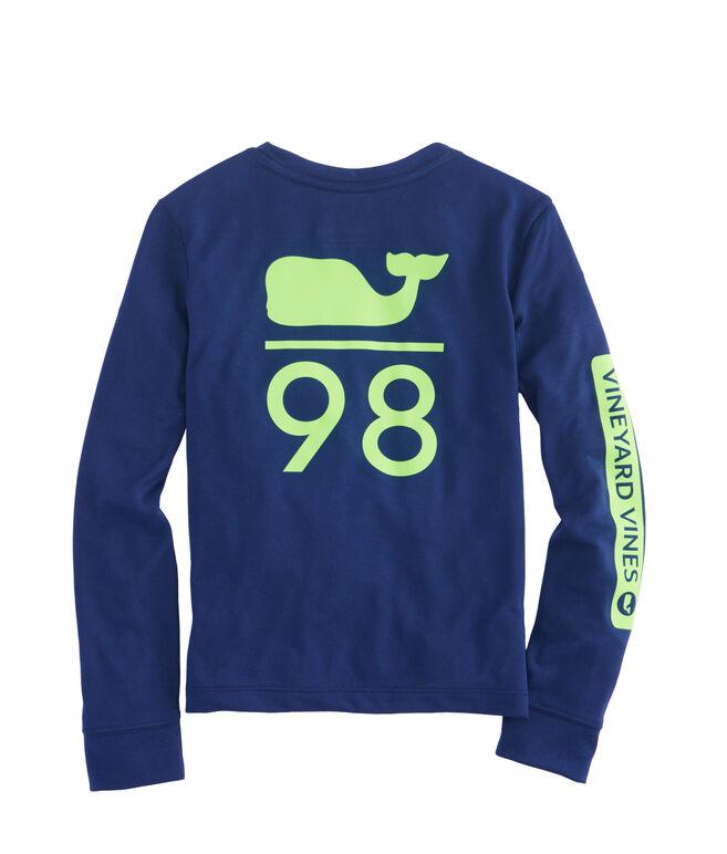 Boys Long-Sleeve Performance Whale 98 T-Shirt