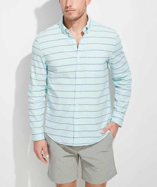 Slim Fit Singer Island Longshore Button-Down Shirt