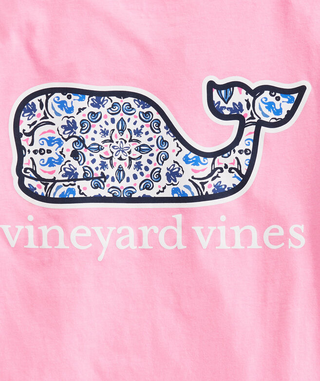 OUTLET Women's Short-Sleeve Seahorse Medallion Whale Fill Pocket Tee