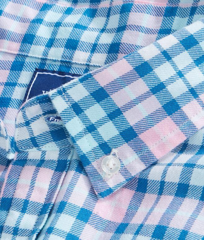 Noisette Rose Plaid Performance Flannel Slim Tucker Shirt