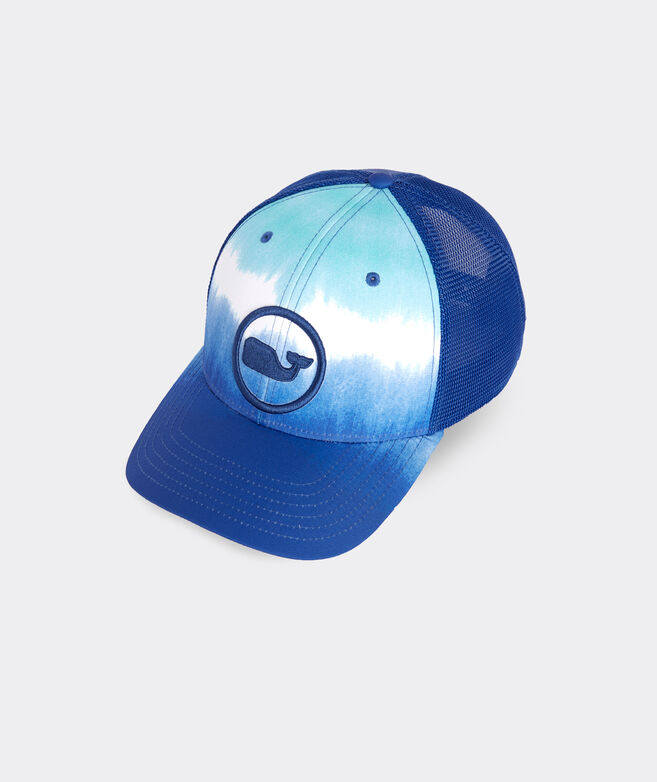 Striped Tie Dye Whale Dot Performance Trucker Hat