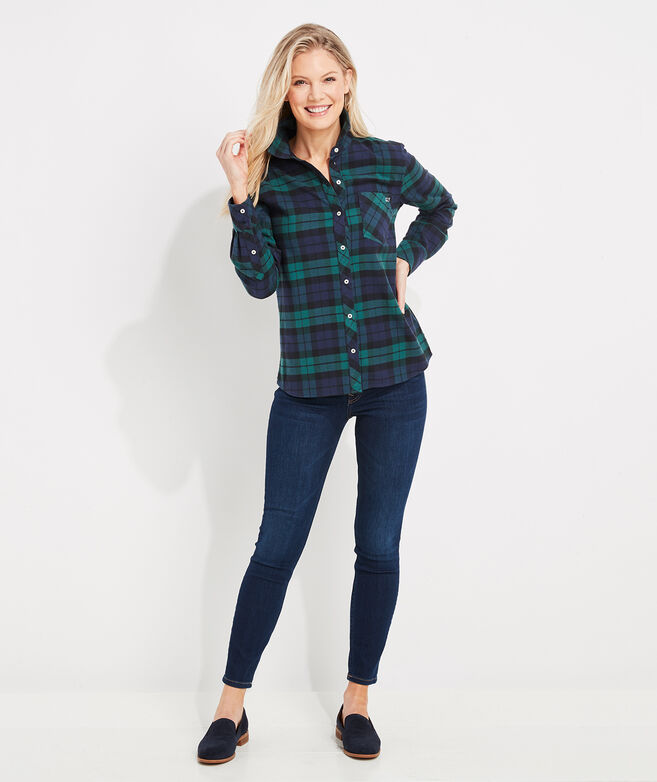 Blackwatch Flannel Chilmark Relaxed Button-Down