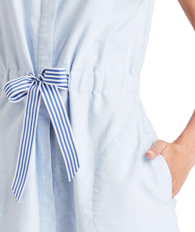 Tie Waist Oxford Dress