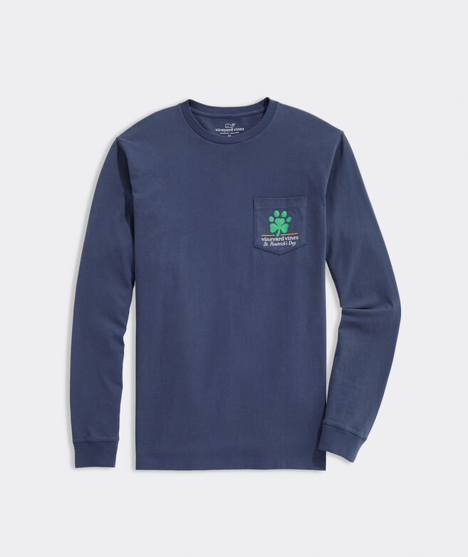 St. Pawtrick's Day Long-Sleeve Pocket Tee