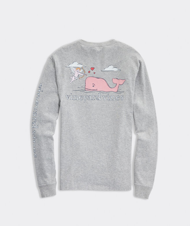 Love Struck Cupid Whale Long-Sleeve Pocket Tee
