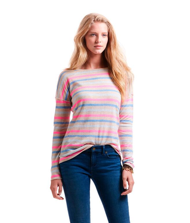 Multi Stripe Boatneck Sweater
