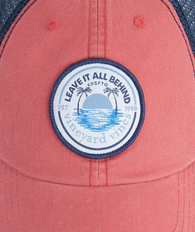 Leave It All Behind Patch Low Profile Trucker Hat