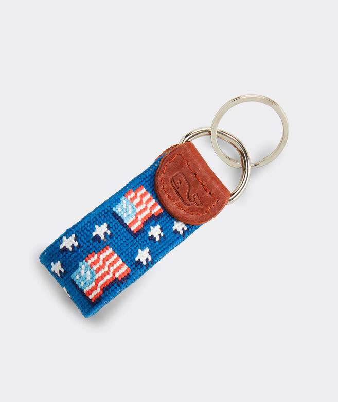 vineyard vines x Smathers & Branson American Flag Key Fob