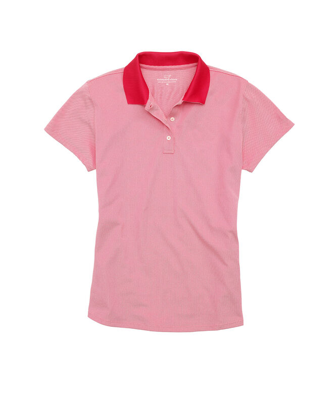 Womens Short-Sleeve Pique Polo
