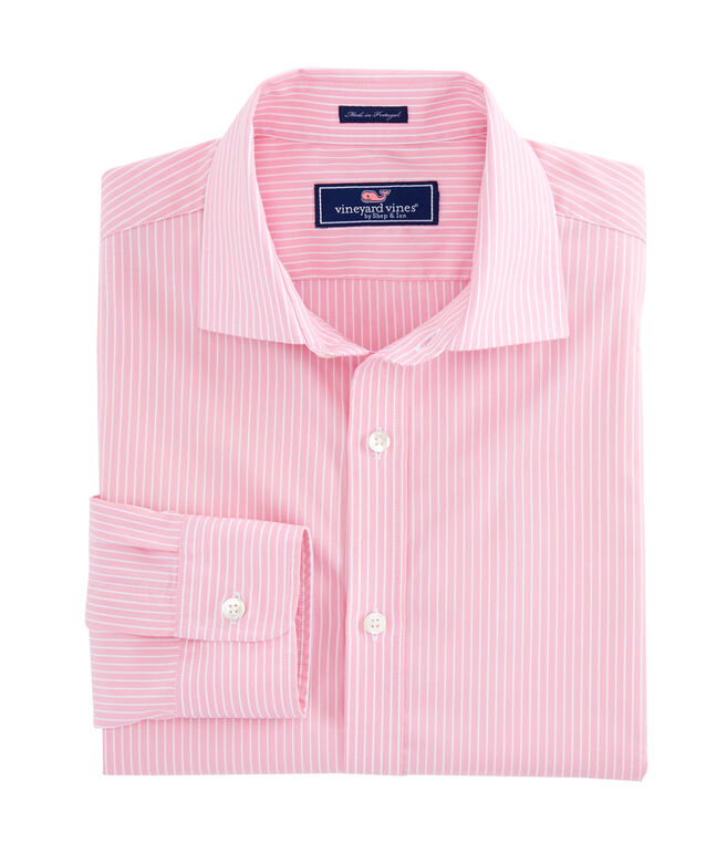 Middle Point Stripe Performance Cooper Shirt