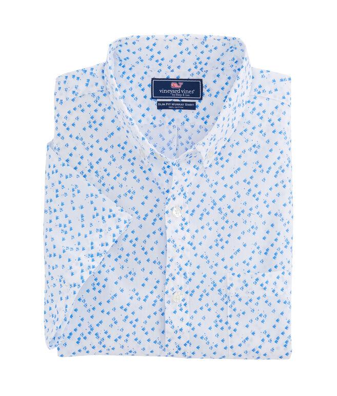 Short-Sleeve Angel Fish Slim Murray Shirt