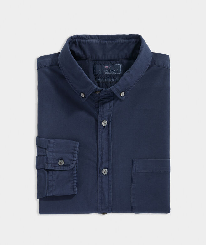 Slim Fit Garment Dyed Pinpoint Oxford Murray Shirt