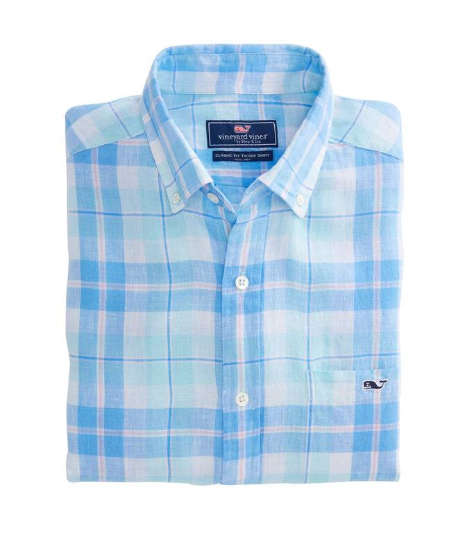 Upper Bluff Plaid Classic Tucker Shirt