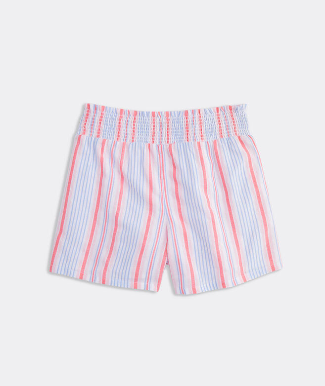 Girls' Abacos Striped Smocked Shorts