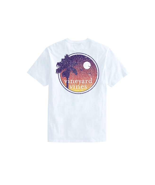 Palm Sunset Short-Sleeve Pocket Tee