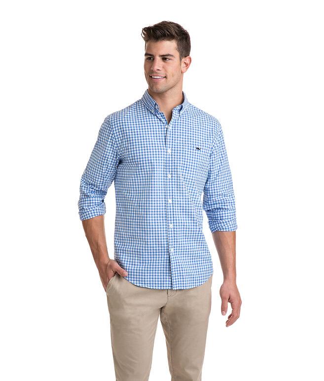 Grande Key Gingham Slim Tucker Shirt