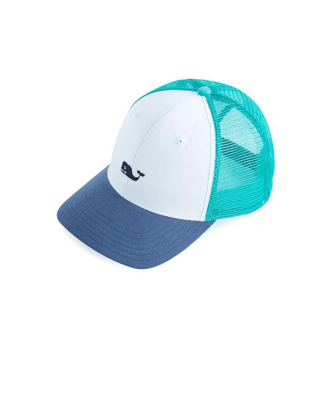 084e483904b72 Shop High Profile Whale Logo Trucker Hat at vineyard vines