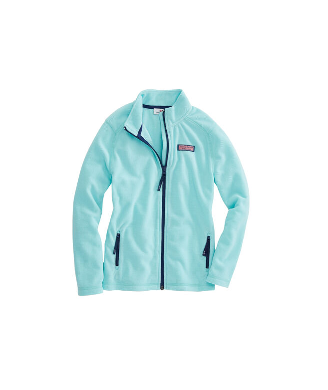 Girls Performance Grid Full Zip Fleece