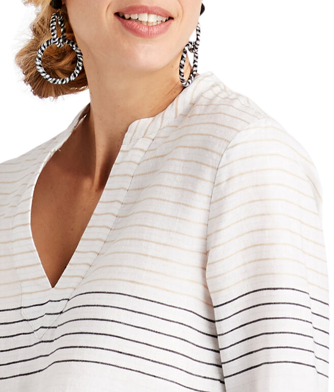 Lurex Stripe Savannah Popover
