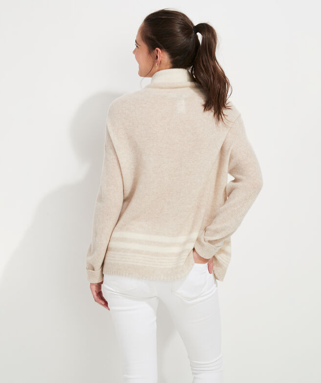 Oversized Funnel-Neck Cashmere Sweater
